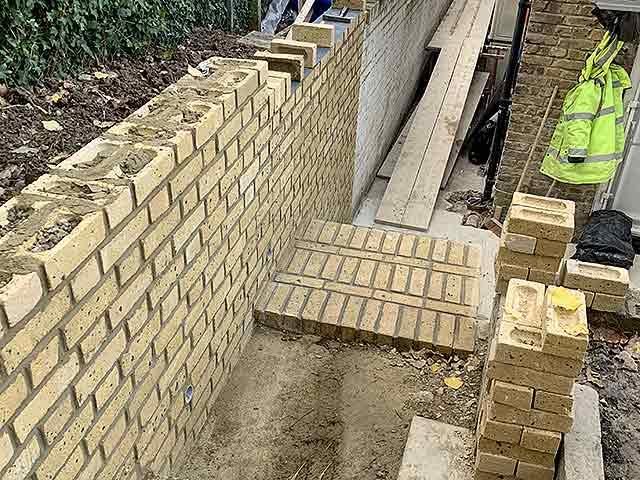 Millstar Construction Rebuilding Retaining Wall